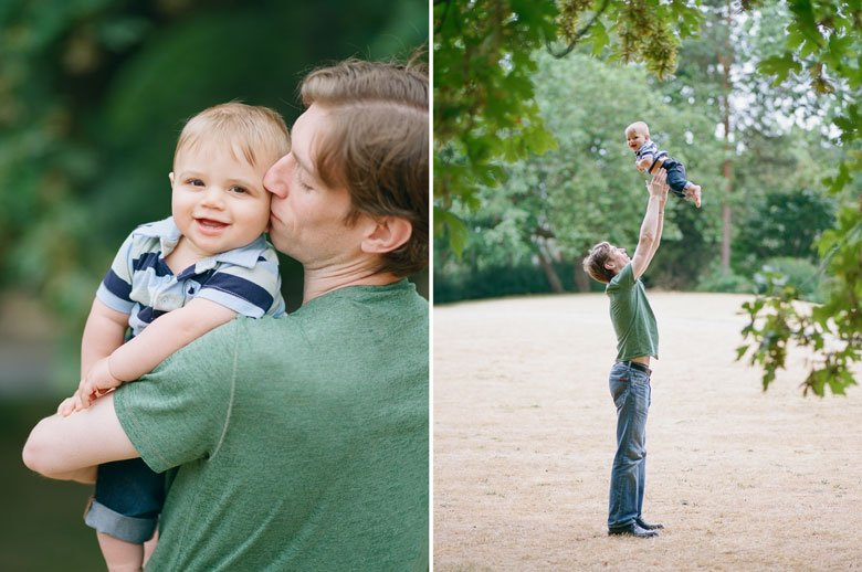 Seattle baby photography : dad tossing baby boy in air