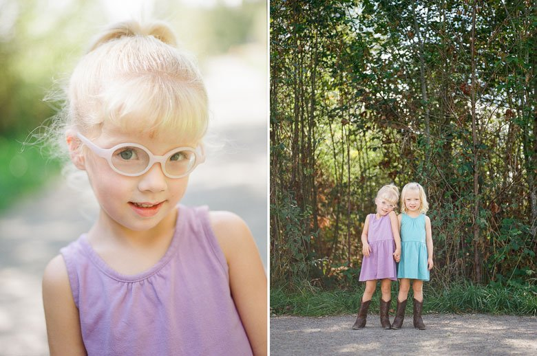 Laurelhurst family photographer : twin_girls_cowgirl_boots_photos_film_web