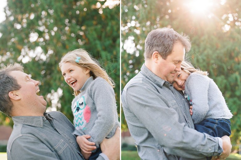 Seattle extended family photographer : father daughter pics