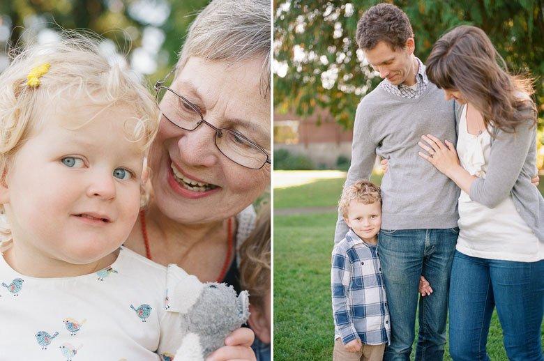 Seattle extended family photographer : grandma and grandchild