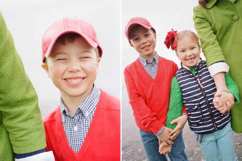 family photographer north seattle : older boy smiling holding hands