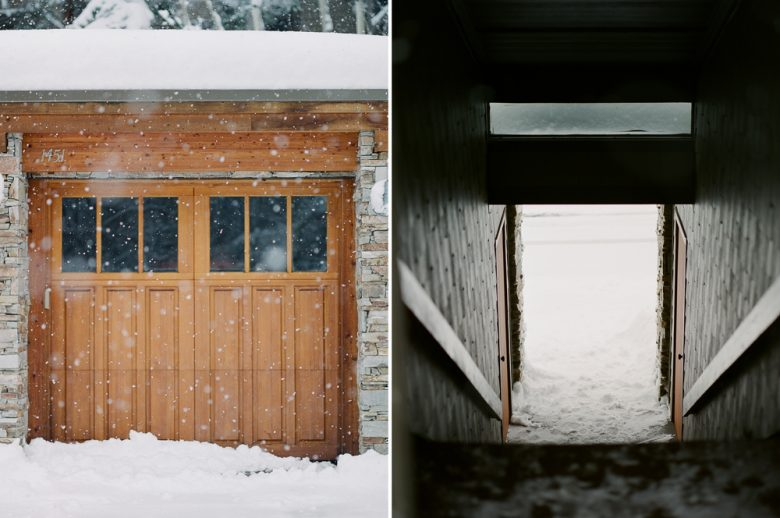 how to use the zone system by Ansel Adams : stair tunnel and garage photographed on color film