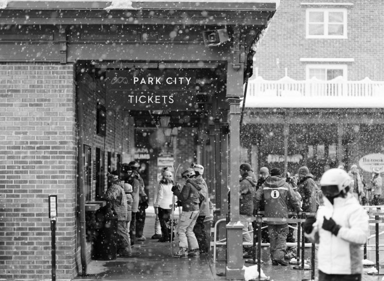 how to use the zone system by Ansel Adams : Park City ticket booth