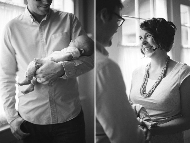 in home newborn photo session