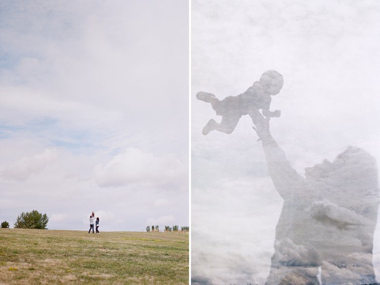 Seattle family photography on film at Magnuson Park