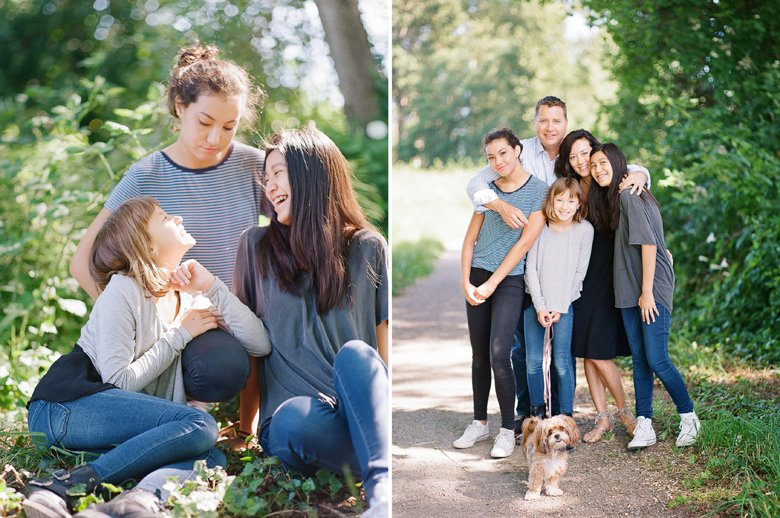 view ridge family photography : family photograph with dog