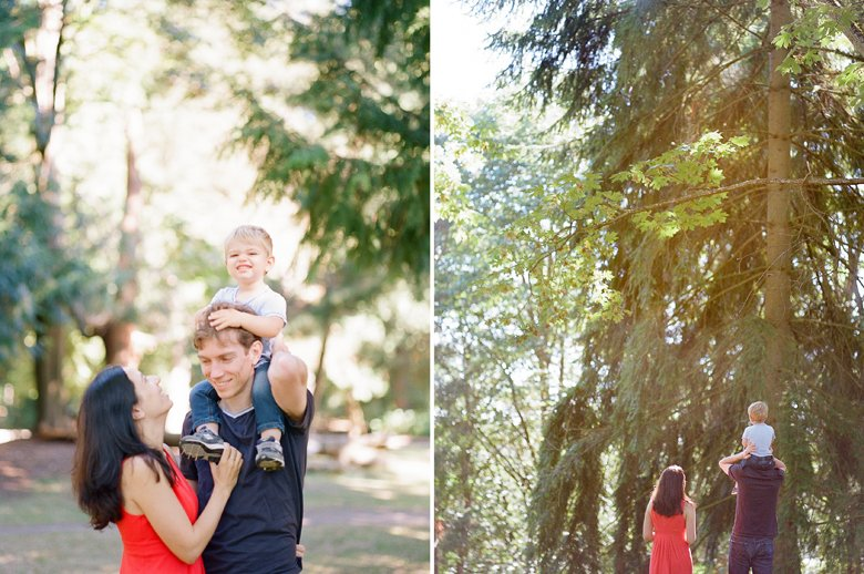 outdoor family session with toddler Seattle