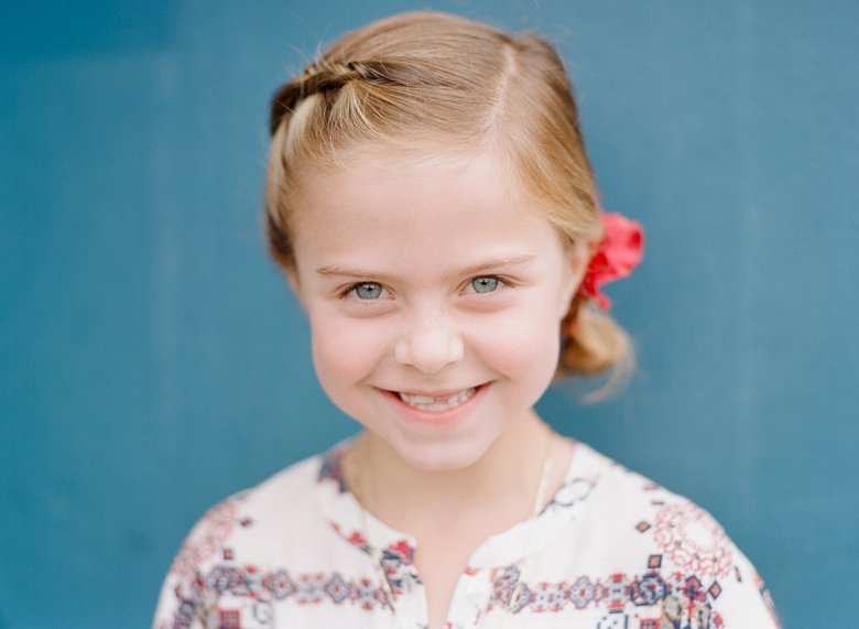 best family photographer seattle | colorful close up of girl