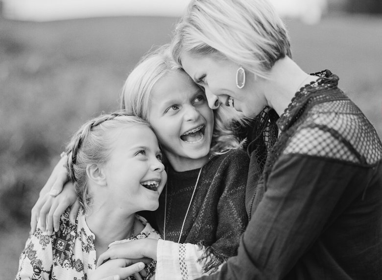 best family photographer seattle | girls laughing with mom