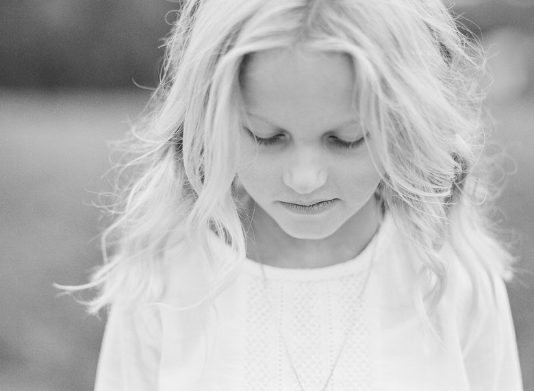 best family photographer seattle | girl looking down