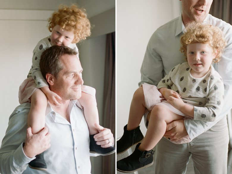 seattle indoor family session : toddler and dad