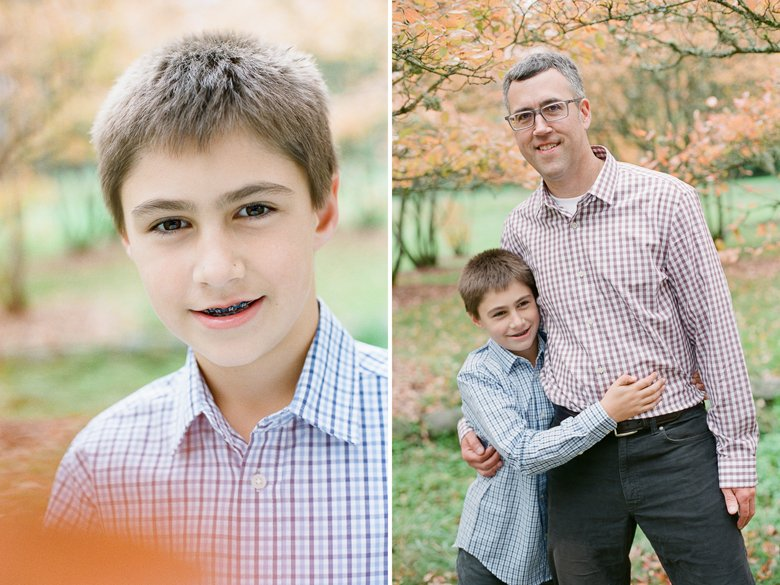 outdoor family session tween : dad and son
