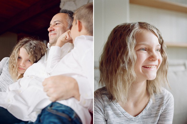 in home candid family photo session | dad and kids