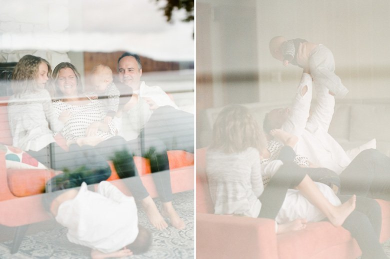 in home candid family photo session | family reflection