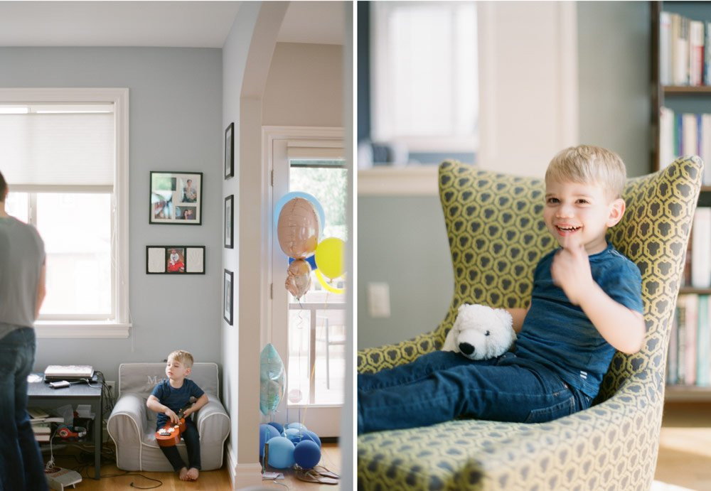 newborn photographers seattle : toddler boy hanging out in his house