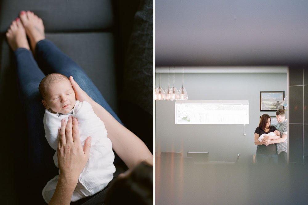 infant photography seattle in home session