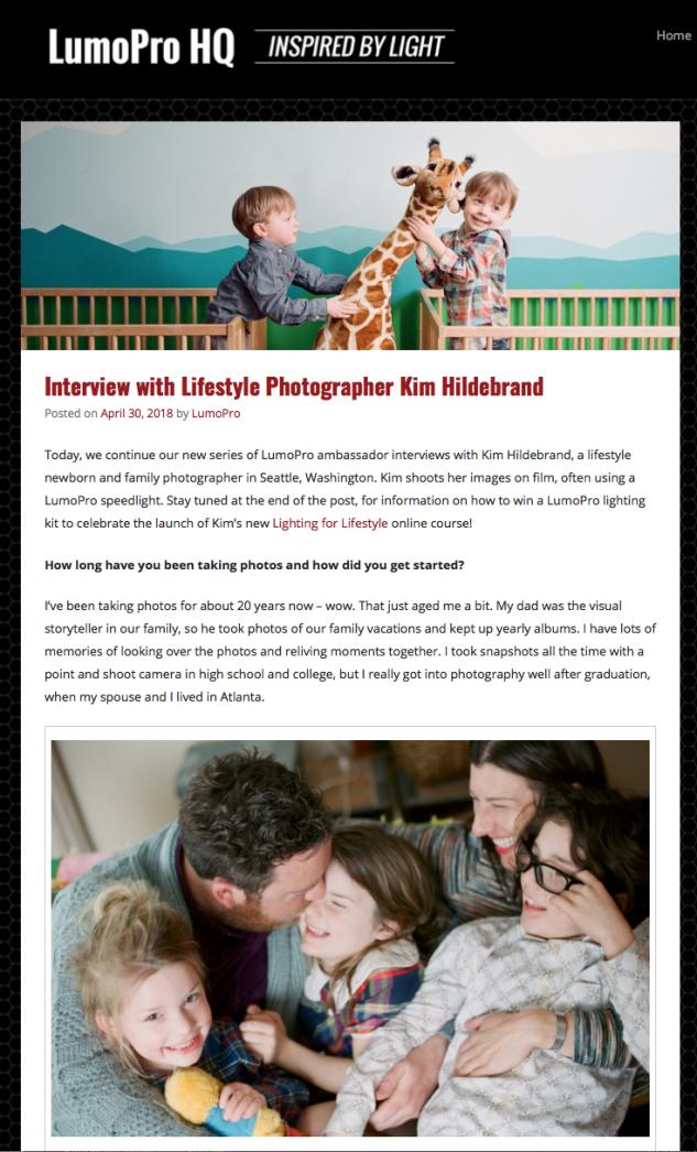 Lumopro Ambassador Interview Kim Hildebrand