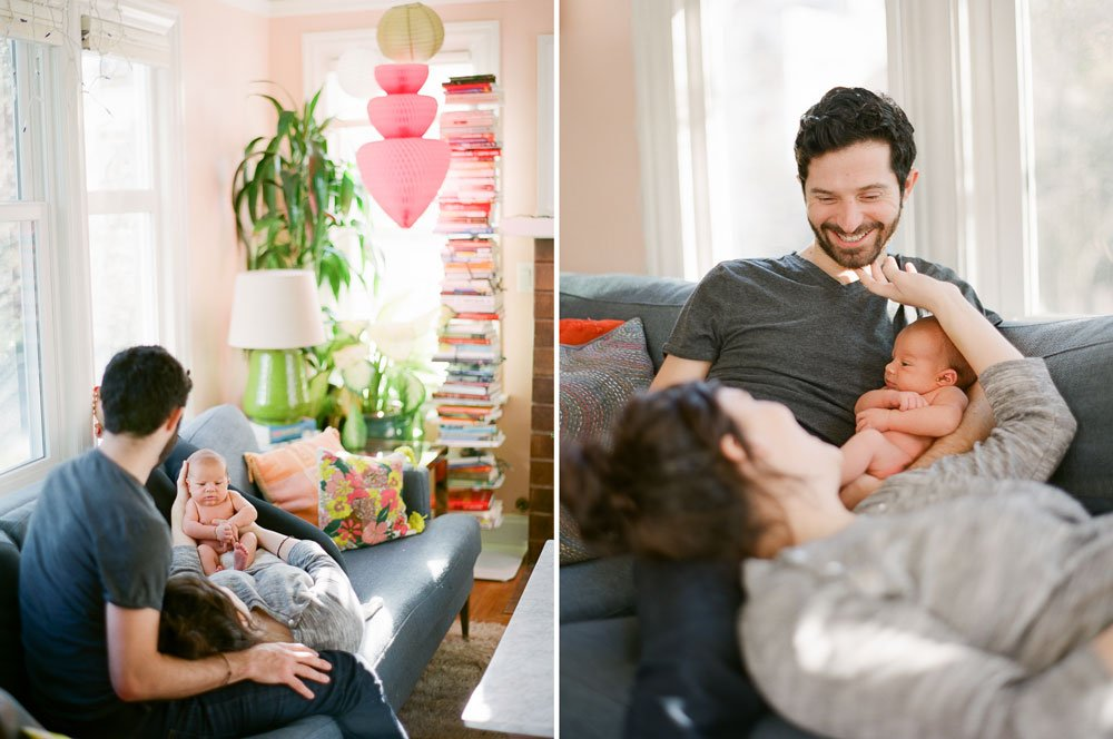 Seattle in home newborn photography