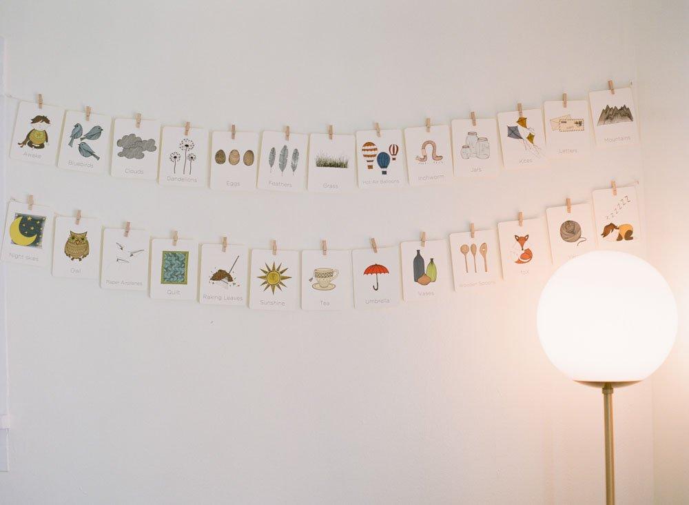 newborn artwork in nursery room details